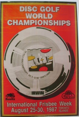 1987 World Disc Golf Championships poster.