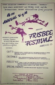 University of Michigan Ann Arbor Frisbee Championships poster
