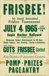 First Frisbee poster.