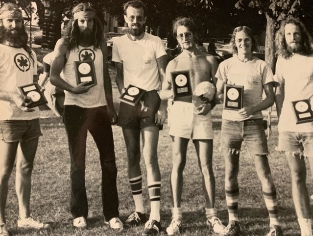 Jim Kenner, Ken Westerfield, Dan Roddick, Bruce Koger, John Connelly, Tom Cleworth. It was taken at the first freestyle event in 1974, Toronto.